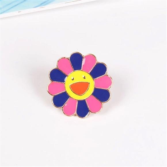 f0173df3f55f Takashi Murakami Purple   Pink Flower Enamel Pin